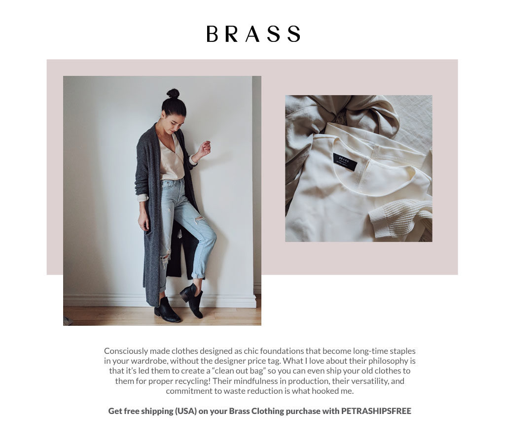 Get free shipping at Brass Clothing with PETRASHIPSFREE
