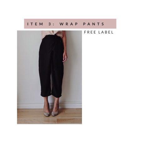 Black wrap pants