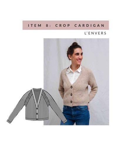 L'Envers cream wool cardigan, cropped