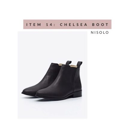 Nisolo Black Chelsea Boots