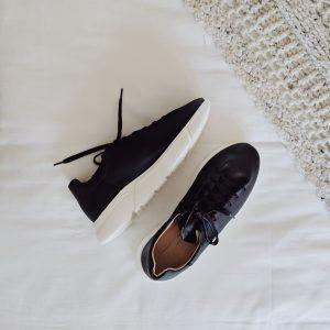 Minimalist Black & White Sneakers