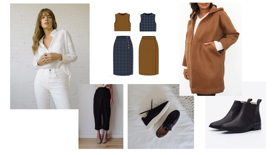 A collage of fall clothes