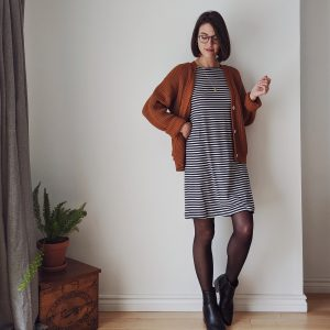 Boat Neck T-Shirt Dress