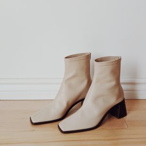 Denton cream ankle boots